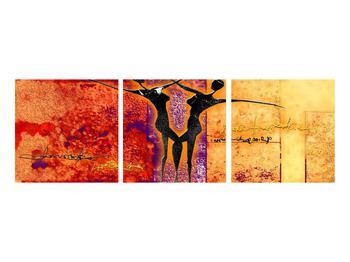 Tablou abstract cu doi dansatori (K011975K9030)