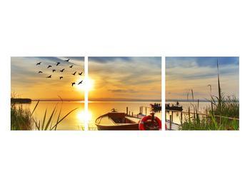 Obraz loďky na jezeře (K012049K9030)
