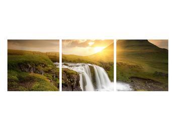 Obraz krajiny s malým vodopádem (K012050K9030)
