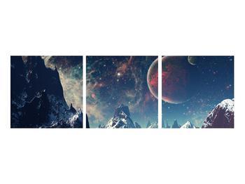 Tablou cu peisaj montan cu planete (K012168K9030)