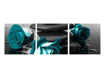 Tablou cu trandafiri albastre (K012553K9030)