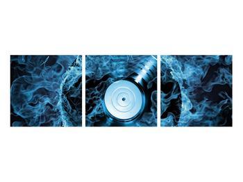 Tablou cu placă de gramofon în foc albastru (K014442K9030)