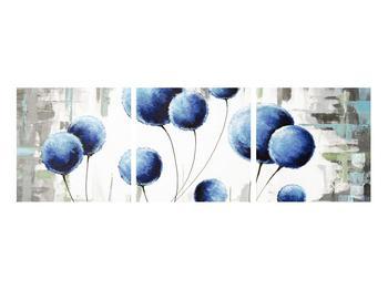 Abstraktní obraz - modré balónky (K014707K9030)