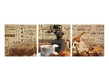 Obraz kávy, mlýnku a croissantů (K014713K9030)