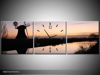 Obraz rybníku u mlýna (F001556F9030CC)