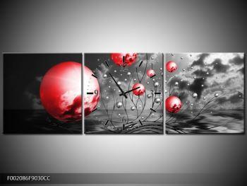 Moderní obraz - červené koule (F002086F9030CC)