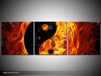 Obraz hořícího jin jang (F002309F9030CC)