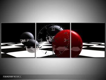 Obraz čtyř koulí na šachovnici - červená (F004098F9030CC)