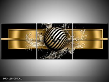 Obraz pruhované koule a vody (F004116F9030CC)
