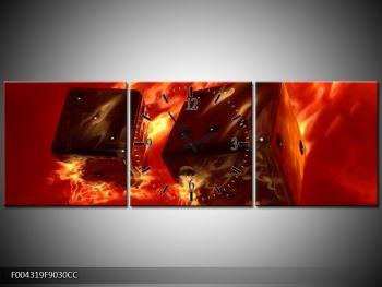 Moderní obraz hořících herních kostek (F004319F9030CC)