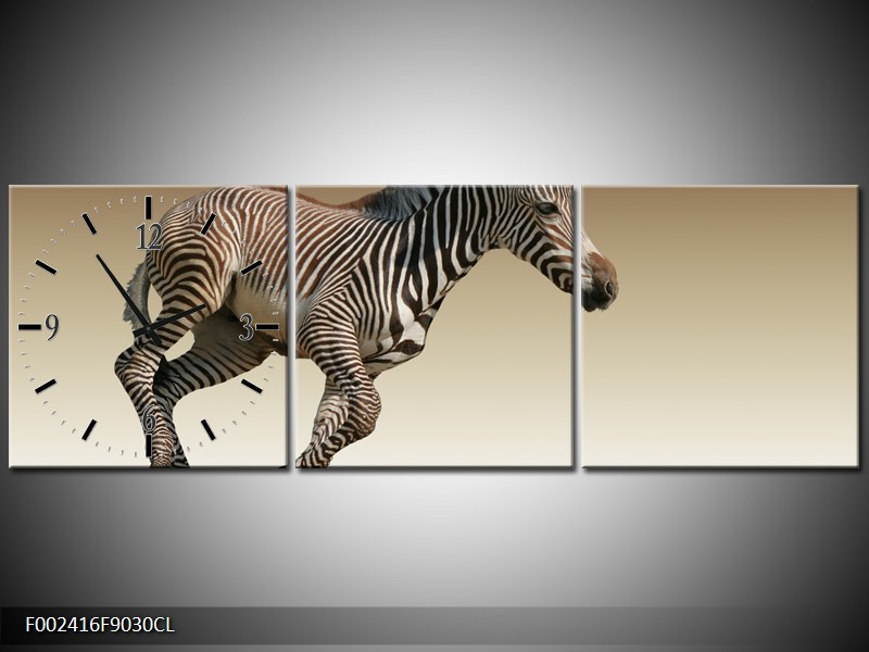 Obraz běžící zebry (F002416F9030CL)
