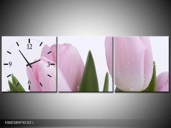 Obraz růžových tulipánů (F000389F9030CL)