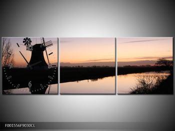 Obraz rybníku u mlýna (F001556F9030CL)