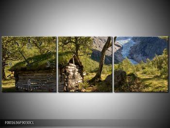 Obraz horské chatrče (F001636F9030CL)