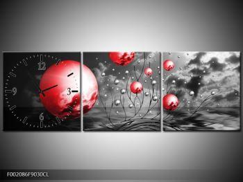 Moderní obraz - červené koule (F002086F9030CL)