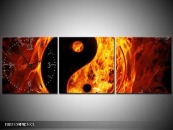 Obraz hořícího jin jang (F002309F9030CL)