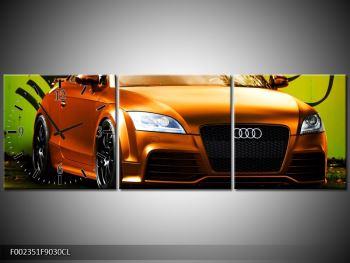 Obraz oranžové Audi (F002351F9030CL)