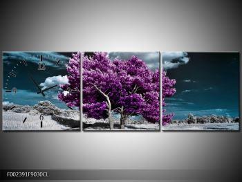 Obraz fialových stromů na pláni (F002391F9030CL)