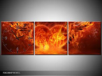 Obraz hořícího srdce s křídly  (F002884F9030CL)