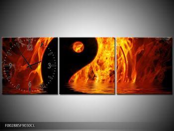 Obraz hořícího Jin Jangu  (F002885F9030CL)