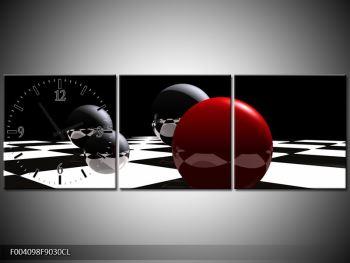 Obraz čtyř koulí na šachovnici - červená (F004098F9030CL)