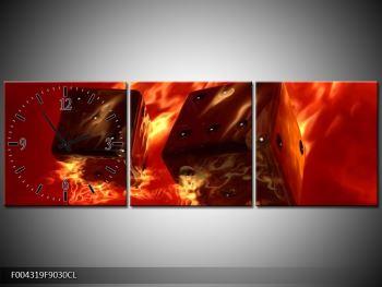 Moderní obraz hořících herních kostek (F004319F9030CL)