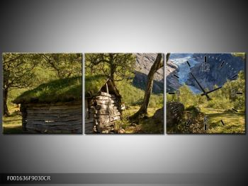Obraz horské chatrče (F001636F9030CR)
