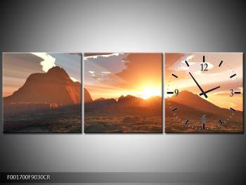 Obraz západu slunce nad horama (F001700F9030CR)