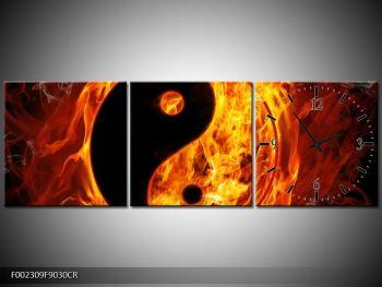 Obraz hořícího jin jang (F002309F9030CR)