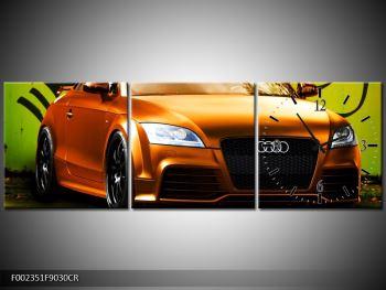 Obraz oranžové Audi (F002351F9030CR)
