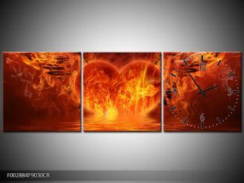 Obraz hořícího srdce s křídly  (F002884F9030CR)