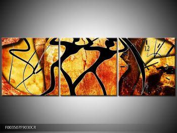 Obraz siluet na žlutavém pozadí  (F003507F9030CR)