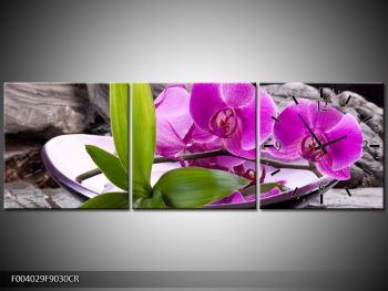 Obraz fialových orchidejí v míse (F004029F9030CR)