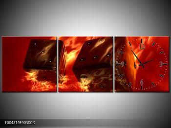 Moderní obraz hořících herních kostek (F004319F9030CR)