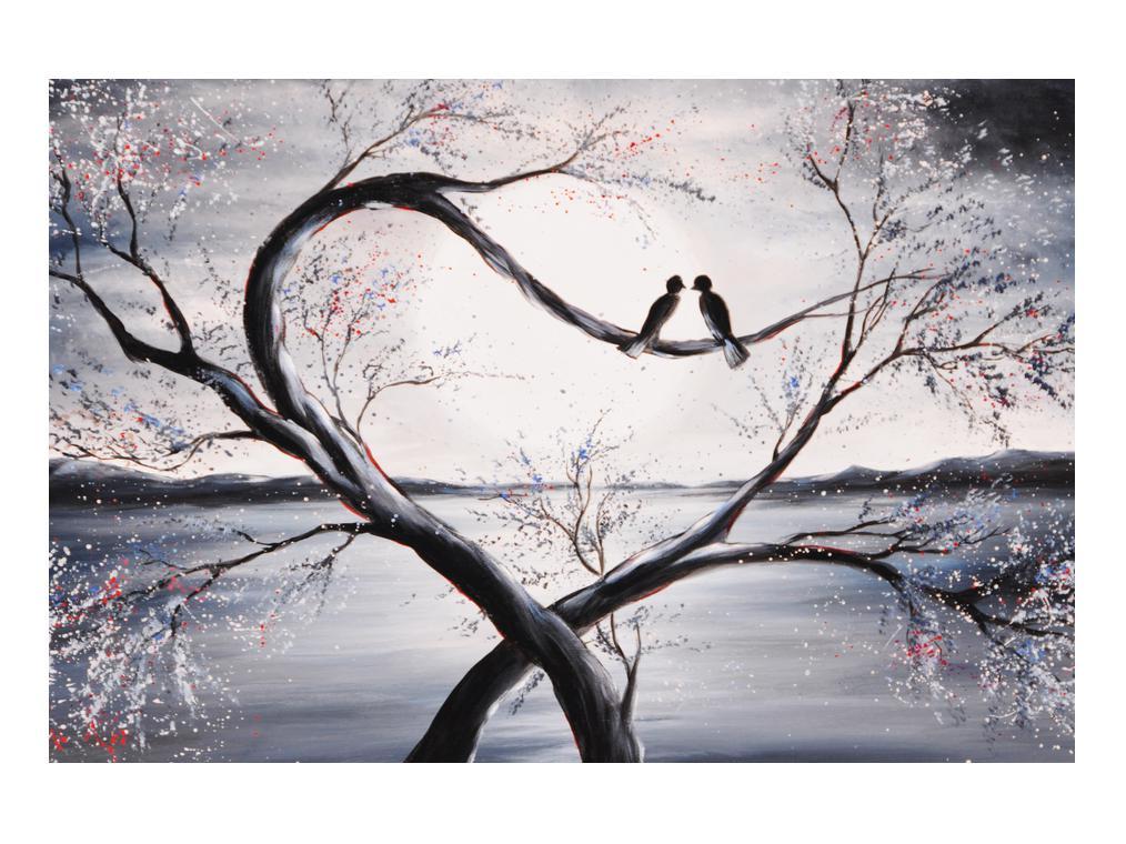 Slika zalljubljenih ptica (K012516K9060)