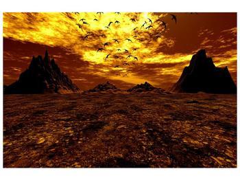 Obraz vyprahlého údolí (F000287F9060)