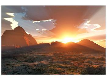 Obraz západu slunce (F000462F9060)