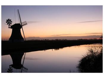 Obraz rybníku u mlýna (F001556F9060)