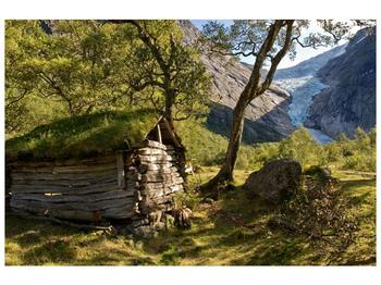 Obraz horské chatrče (F001636F9060)