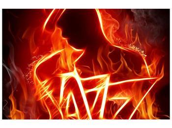 Obraz ohnivé postavy (F001691F9060)