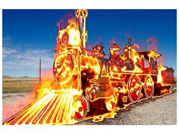 Obraz ohnivé lokomotivy (F001696F9060)