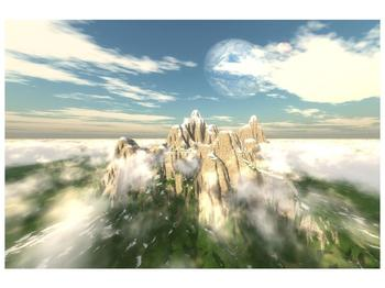 Obraz zasněžených vrcholů skal (F001715F9060)