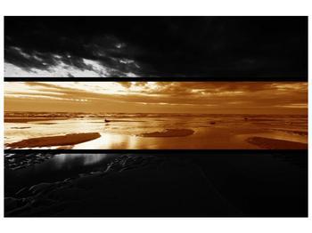 Dvroubarevný obraz moře (F001957F9060)
