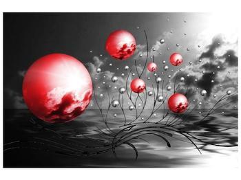 Moderní obraz - červené koule (F002086F9060)
