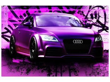 Obraz fialové Audi (F002349F9060)
