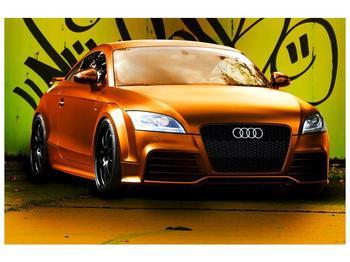Obraz oranžové Audi (F002351F9060)