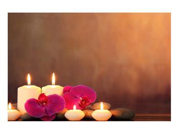 Tablou relaxant cu lumănâri și orhidee (K011120K9060)
