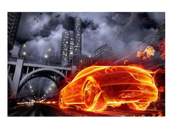 Tablou cu mașina arzând (K011167K9060)