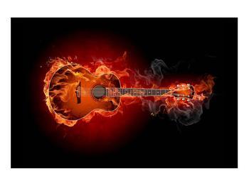 Lángoló gitár képe (K011168K9060)