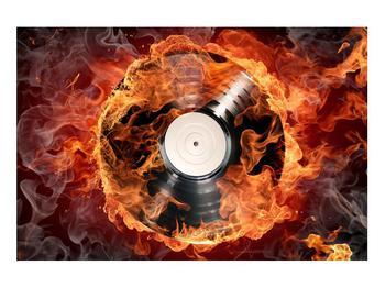 Tablou cu placă de gramofon în foc (K011171K9060)